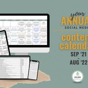 September 2021 - August 2022 Social Media Content Calendar
